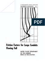 Friction Factors for Large Conduits Flowing Full
