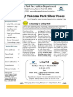 Silver Foxes Newsletter - February 2012 from the Takoma Park Recreation Department