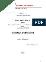 Eccp Sistemul de Directie