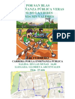Cartel Carrera Popular