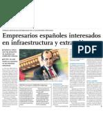 Empresas de España interesadas en invertir en el Perú.