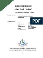 Abl Internship Report