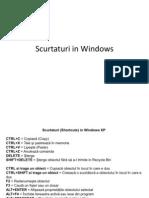 Scurtaturi in Windows