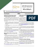 MintMark, first quarter, 2012