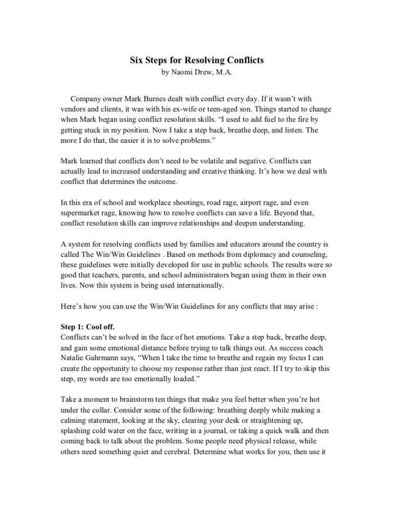 Referat Management | Conflict Resolution | Forgiveness