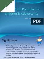 Somatoform Disorders 01.20.2012