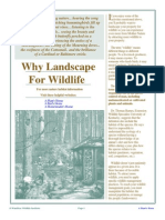 Why Landscape For Wildlife