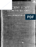 Ancient Egypt From the Records