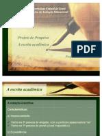 1 A escrita acadêmica