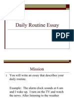 essays daily routine leisure documents similar to essays daily routine