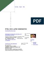 Ed Lapi Sermon