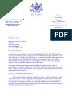Cuomo Convention Center Letter 2011