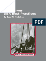 SQL Server DBA Best Practices