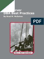 SQL Server DBA Best Practices