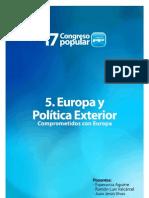 PONENCIA EUROPEA Y EXTERIOR PARTIDO POPULAR SEVILLA 2012 17 CONGRESO