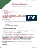 Fairfax County Emergency Information