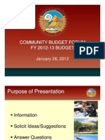 Community Budget Forum Presentation