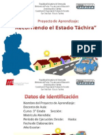 Proyecto de Aprendizaje 1 Recorriendo Tachira
