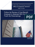 Follow-Up Review of Cost-Benefit Analyses in Selected SEC Dodd-Frank Act Rule Makings