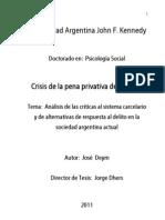 Crisis de La Pena Privativa de Libertad - Cuerpo Central