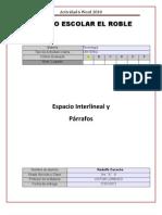 Espacio Inter Lineal y Parrafos