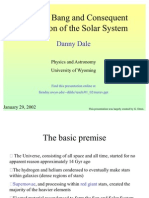 Danny Dale- The Big Bang and Consequent Formation of the Solar System