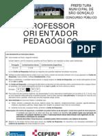 Prova de ProfessorOrientadorPedagogico Sg 2011