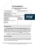 Application for an Amendment to Hamilton Zoning by-Law