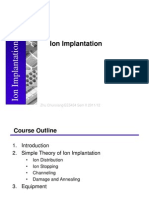 Lect 4 Ion Implantation