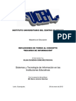 REFLEXIONES EN TORNO AL CONCEPTO RECURSO DE INFORMACIÓN