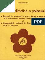 Valoarea Dietetica a Polenului - Apimondia 1977
