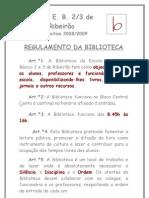 Regulamento da Biblioteca 2008-2009