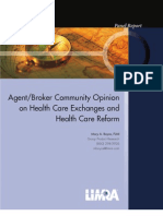 LIMRA Agent-Broker Community Opinion on Health Care Exchanges