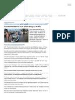 Floods Threaten to Shut Down Bangkok Metro - THAILAND - FRANCE 24