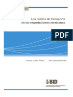 Los Costos de Transporte en Las Exportaciones Mexicanas