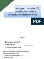 Técnicas de imagen con talio-201, tecnecio-99m,