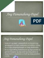 ang pamanahong-papel