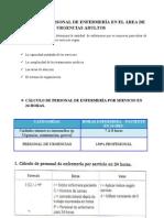 CÁLCULO DE PERSONAL DE ENFERMERIA