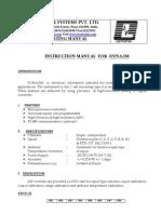 Operating Manual DYNASM