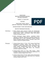 Permendiknas No. 19 Tahun 2005-Penetapan Angka Kredit Jabatan Fungsional Pengawas Sekolah