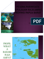 Pesona Pariwisata Kepulauan Raja Ampat