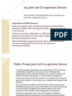 Public, Private, Joint and Co-Operative Sectors