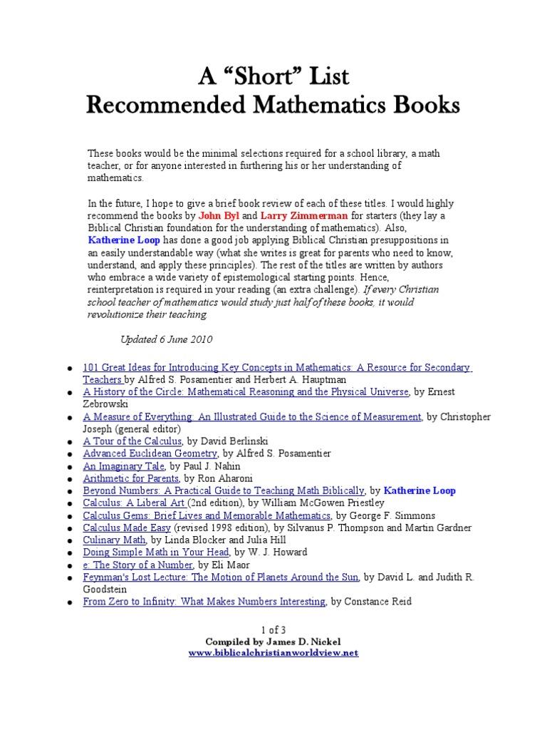Short List Mathematics | Geometry | Physics & Mathematics