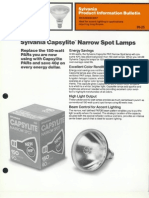 Sylvania Halogen Capsylite PAR-38 Narrow Spot Lamps Product Information Bulletin