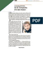 Urbino Calcio - Intervista all'Assessore Tempesta - Il Resto del Carlino del 27 gennaio 2012