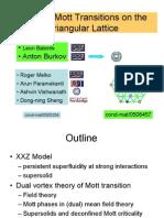 Leon Balents et al- Bosonic Mott Transitions on the Triangular Lattice