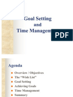 Goal Setting Time Management