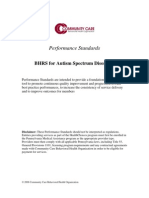 BHRS for Autism Spectrum Disorders - Performance Standards