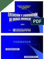Indice Manual de Normas y Procedimientos 2005