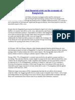 Impact of Global Financial Crisis